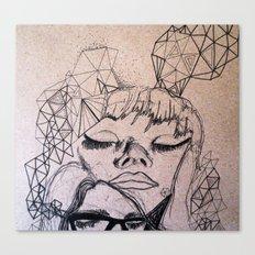 Experimental Faces Canvas Print