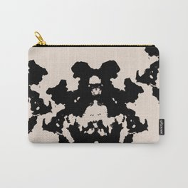 Black Rorschach inkblot Carry-All Pouch