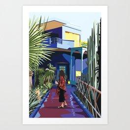 Jardins Majorelle Marrakech Art Print