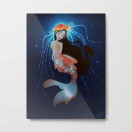Coy Fish Mermaid Metal Print