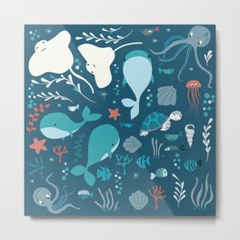 Sea creatures 004 Metal Print