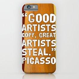 Picasso Quote iPhone Case