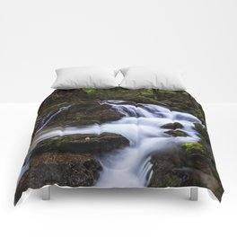 Magical waterfall in gorge Hell Comforters