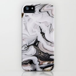 Elegant dark swirls of marble iPhone Case
