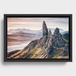 Old Man of Storr, Isle of Skye, Scotland Framed Canvas