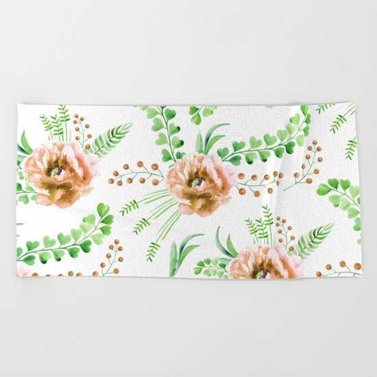 Forest Meadow Love Beach Towel