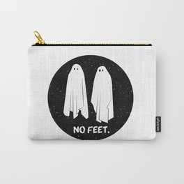 No Feet Ghosts Black and White Graphic Carry-All Pouch