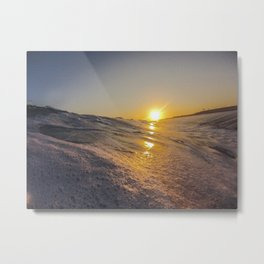 Sunset From The Water Metal Print