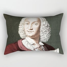 Antonio Vivaldi (1678-1741) by Morellon de la Cave in 1725 Rectangular Pillow