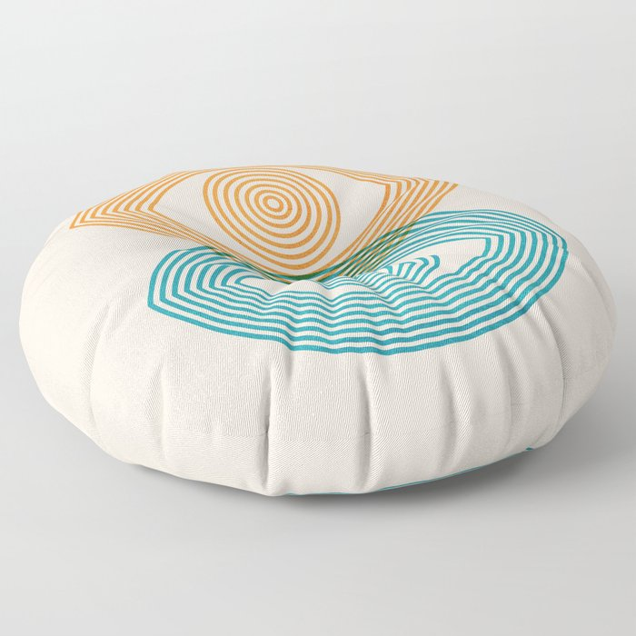 Abstraction_EYES_Minimalism_POP_ART Floor Pillow