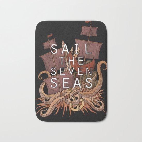 Sail the seven seas Bath Mat