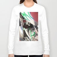 motorcycle Long Sleeve T-shirts featuring Motorcycle by Carlo Toffolo