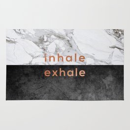 Inhale Exhale Copper Rug