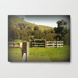 Cattle Yards Metal Print
