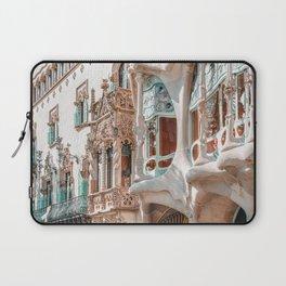 Casa Batllo, Antoni Gaudi Architecture, Barcelona City Print, Famous Landmark, Travel Print, House Facade, Modernist Building, Spanish Organic Motifs Laptop Sleeve