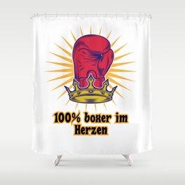100% BOXER IM HERZEN Shower Curtain