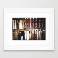literature Framed Art Prints featuring Art & Literature by czossi