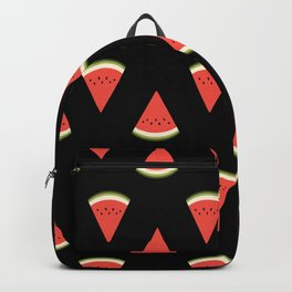 watermelon fruit stripes food fight apparel and gifts black Backpack