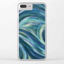 Gogh with the flow Clear iPhone Case