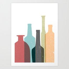 BOTTLES poster Art Print