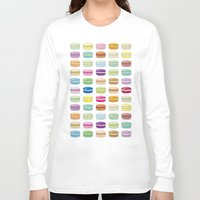 macaroon Long Sleeve T-shirts featuring Colorful macaroon set by MiartDesignCreation