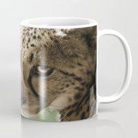 cheetah Mugs featuring Cheetah by Cameron Booth