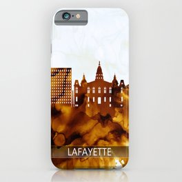 Lafayette Louisiana Skyline iPhone Case