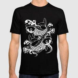 Vintage Asian Koi Fish Product Japaneses Carp Koi Pond Print T-shirt