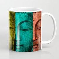 buddha Mugs featuring buddha by mark ashkenazi