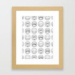 Emoji Framed Art Print