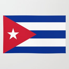 Flag of Cuba - Banner version (High Quality Image) Rug