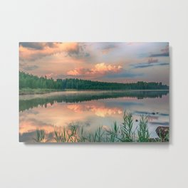 Misty Sunrise Metal Print