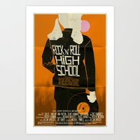 ramones Art Prints featuring Rock 'n' Roll High School  by Mark Welser