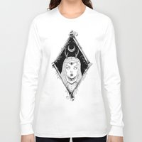 bones Long Sleeve T-shirts featuring Bones by alesaenzart