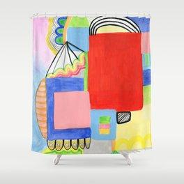 Primary Geo Summer Day Shower Curtain