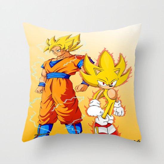 Super Sonic Warriors Z Throw Pillow