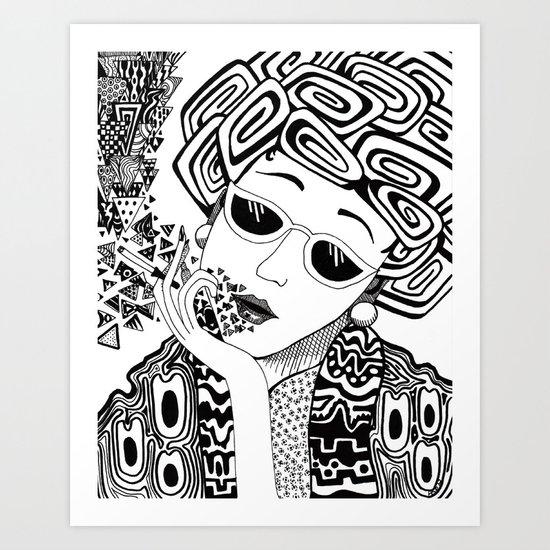 Virginia Smokes Art Print