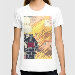 Moon and Smoke , Japanese Firefighter T-shirt