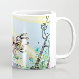 Laughing Along the Path - One Boy and a Toy Coffee Mug