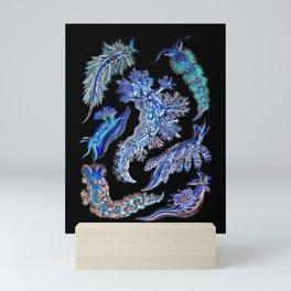 Nudibranch Sea Slugs in Blue Green Mini Art Print