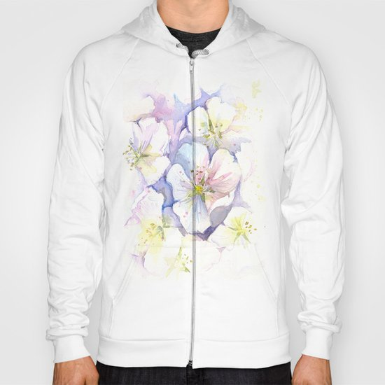 Cherry Blossoms Flowers Spring Floral Hoody