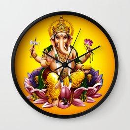 Hindu Ganesha 2 Wall Clock