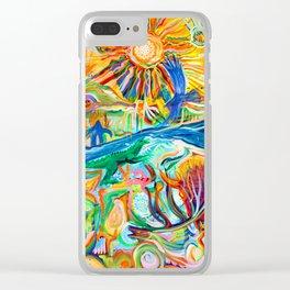 Standing Rock Sun Clear iPhone Case