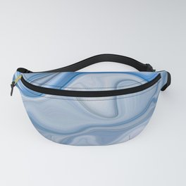 Smooth Abstract Ice Blue Marble Texture Fanny Pack