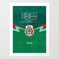 mexico Art Prints featuring Mexico by liamhohoho