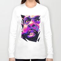 nba Long Sleeve T-shirts featuring JAMES HARDEN: NBA ILLUSTRATION V2 by mergedvisible