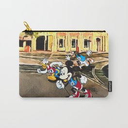 Mickey, Donald, and Goofy Race Down Main Street Carry-All Pouch