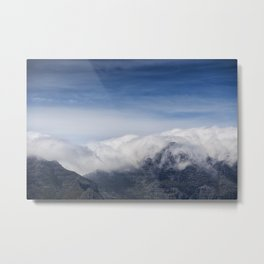 Clouds on Table Mountain Metal Print
