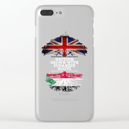 British Grown With Sudanese Roots Clear iPhone Case