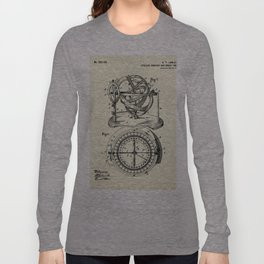 Stellar Compass and Great Circle Course Projector-1902 Long Sleeve T-shirt